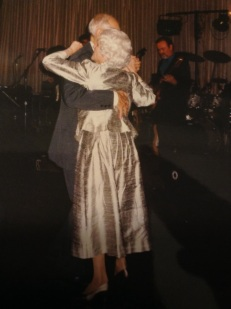 Perhaps their last dance, at my nephew's wedding in 2001.