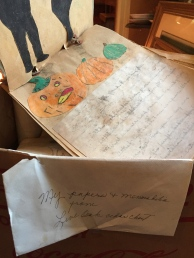 My papers and memorabilia from Live Oak cedar chest, wrote my mother. Here, the Adventures of Little Jack (o'lantern, presumably)