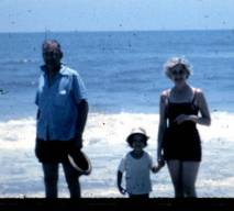 My parents and I, Fernandina Beach, Florida, circa 1966