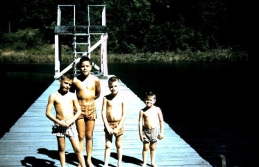 Fun at the Lake, the Mattingly Brothers, late 1950s