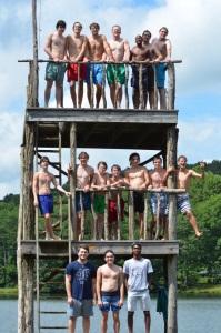 Westminster Men's A Capella, 2015-16, at Tate Mountain, Georgia.