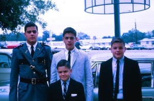ROTC Ed with brothers, Marist School, Atlanta.