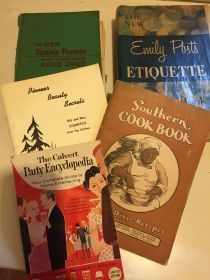 Emily Post, recipes from Old Dixie, a Party Encyclopedia ... the keys to homemaking success.