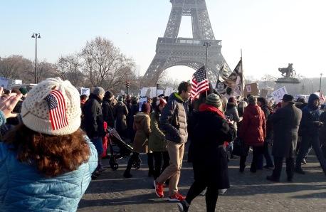 Gathering beneath La Tour Eiffel