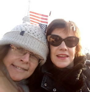 My dear friend Tracy (left) and I at the Paris Women's March